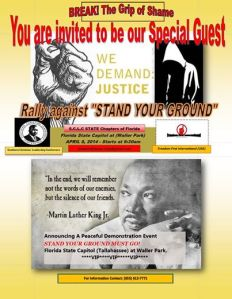 Break The Grip of Shame Rally 4-8-2014 Florida State Capitol Tallahassee