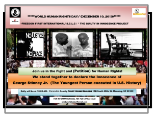 George Stinney Rally World Human Rights 2013 Manning, SC