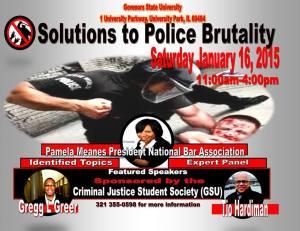 Police Brutality GSU 1-16-2015