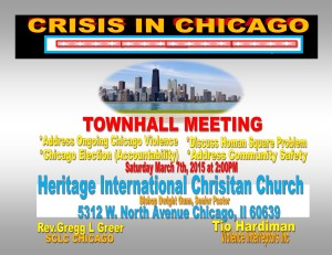 Crisis in Chicago Town Hall 3-7-2015