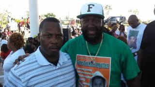 with Tracy Martin father of Travon Martin